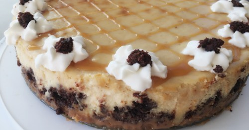 caramel brownie cheesecake recipe christmas thanksgiving special occasion dinner party dessert idea