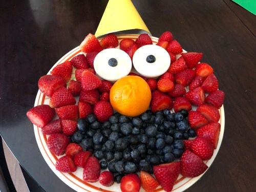 elmo fruit tray birthday party