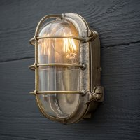 Brass Bulkhead Light | Porch | Garden Lantern | Exterior ...