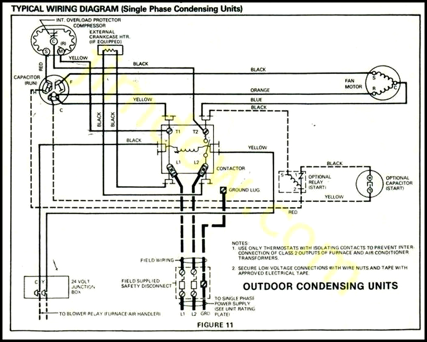 Outside Ac Fan Motor Wiring Wiring Diagram 2019