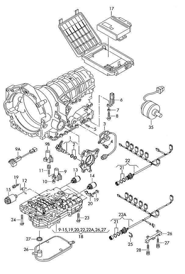1998 audi a4 transmission diagram