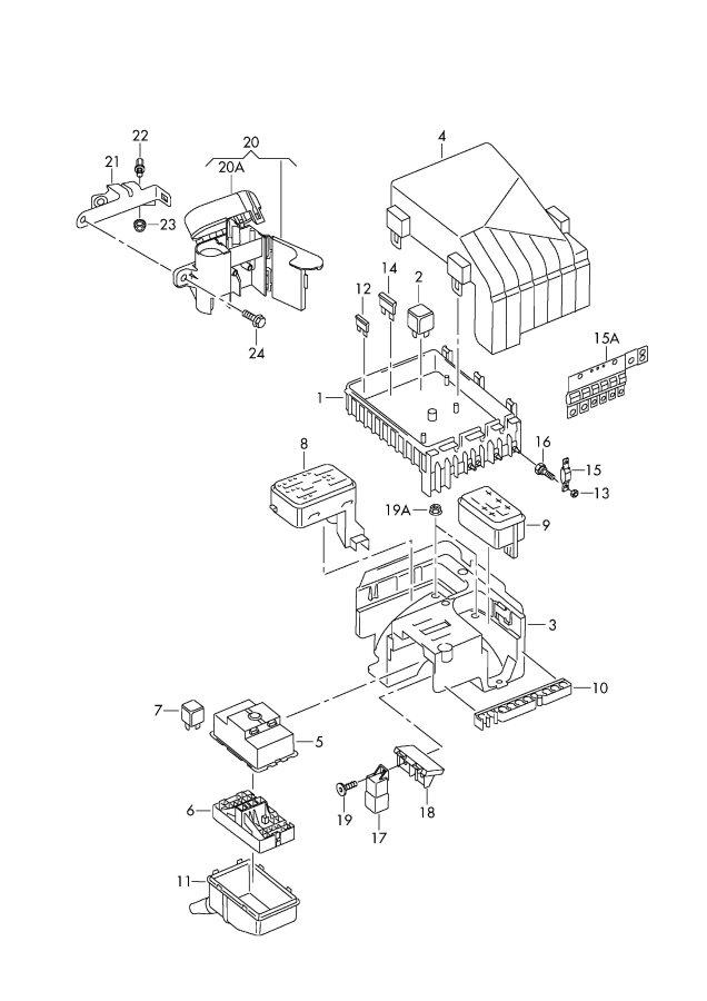 2004 vw passat 1.8t fuse box diagram