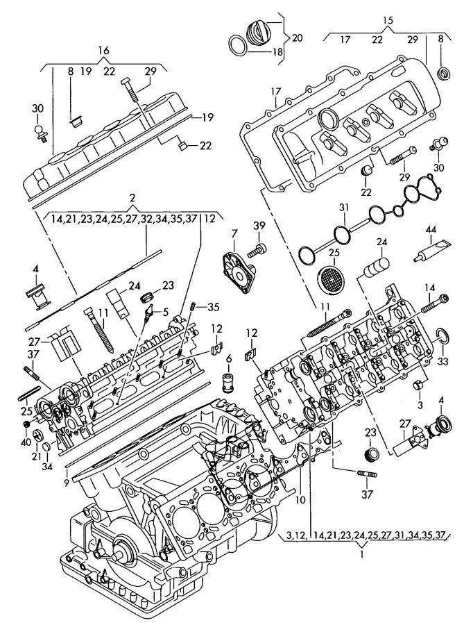 diagrams for 1999 audi a4 quattro engines