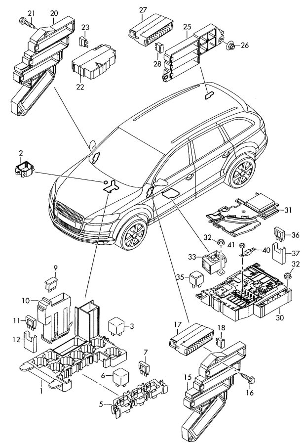 2011 audi a4 fuse box diagram