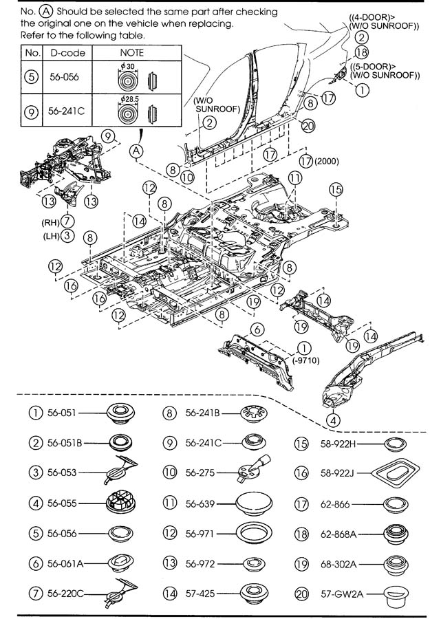 1990 mazda 626 fuse box diagram