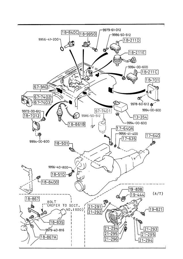 1989 mazda b2200 engine parts diagram wiring schematic