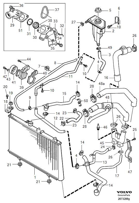 schema moteur volvo s40