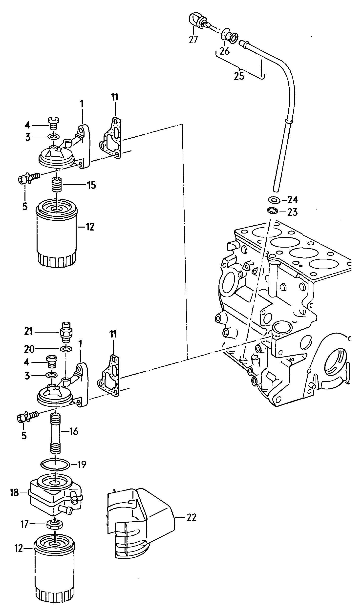 vanagon enginepartment parts diagram