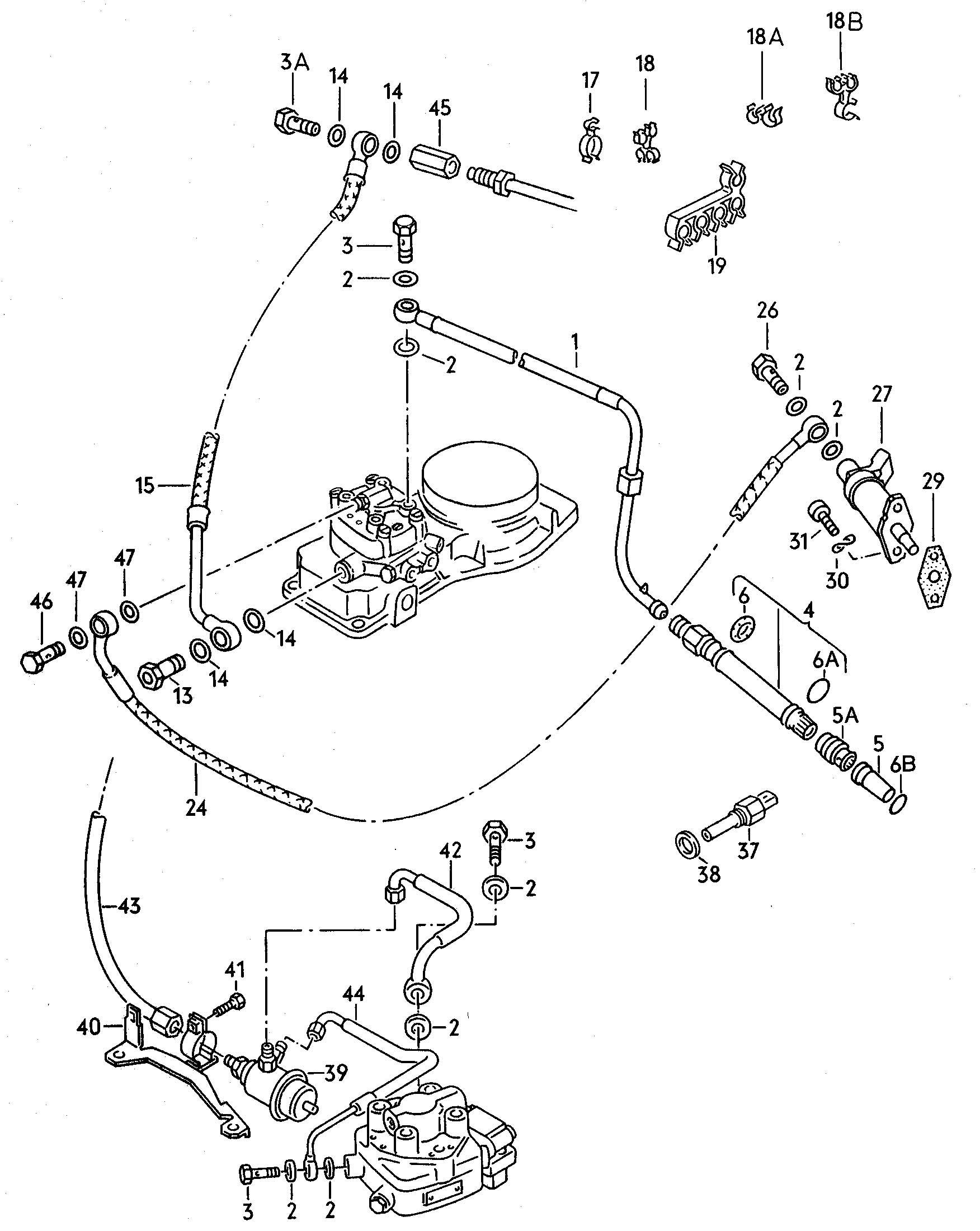 1988 vw cabriolet engine diagram