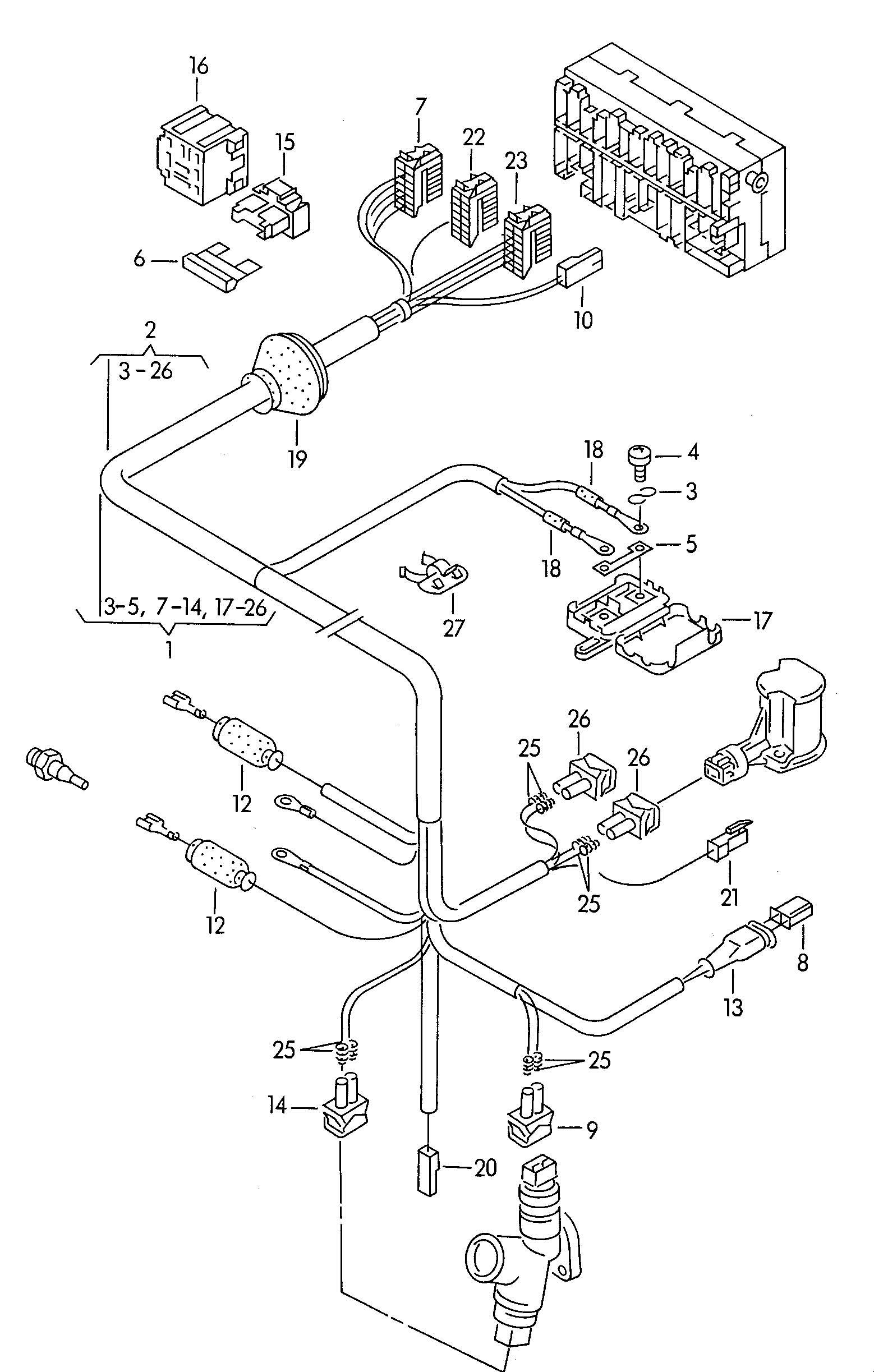 1993 volkswagen vw eurovan 25l engine control module wiring diagram