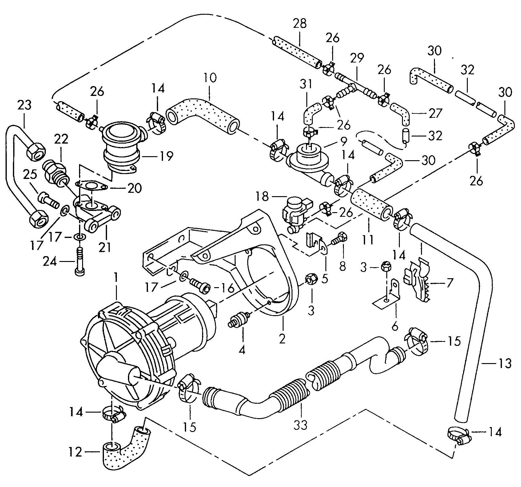 vw cabrio 2.0 engine diagram