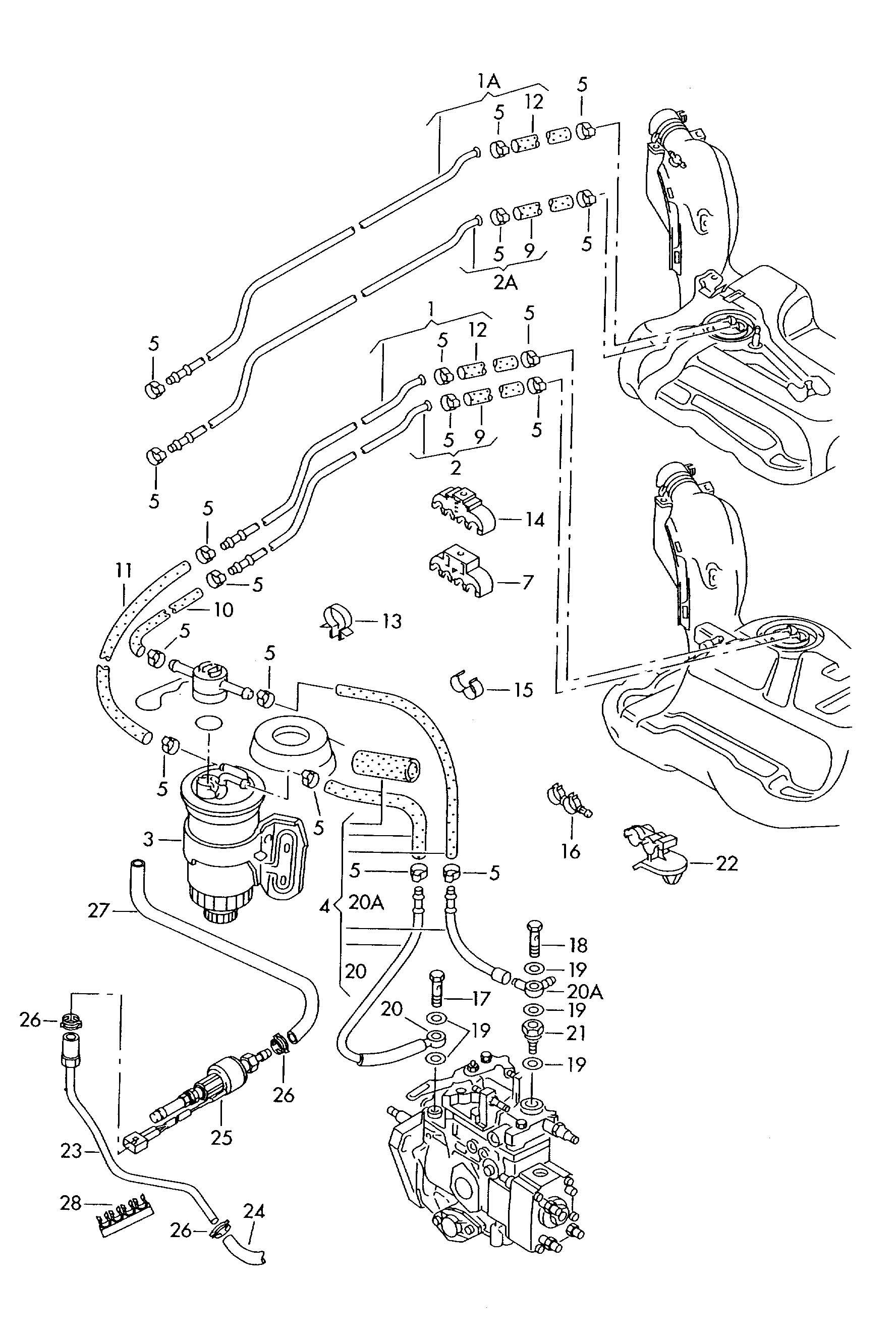 1999 volkswagen passat fuel filter replacement