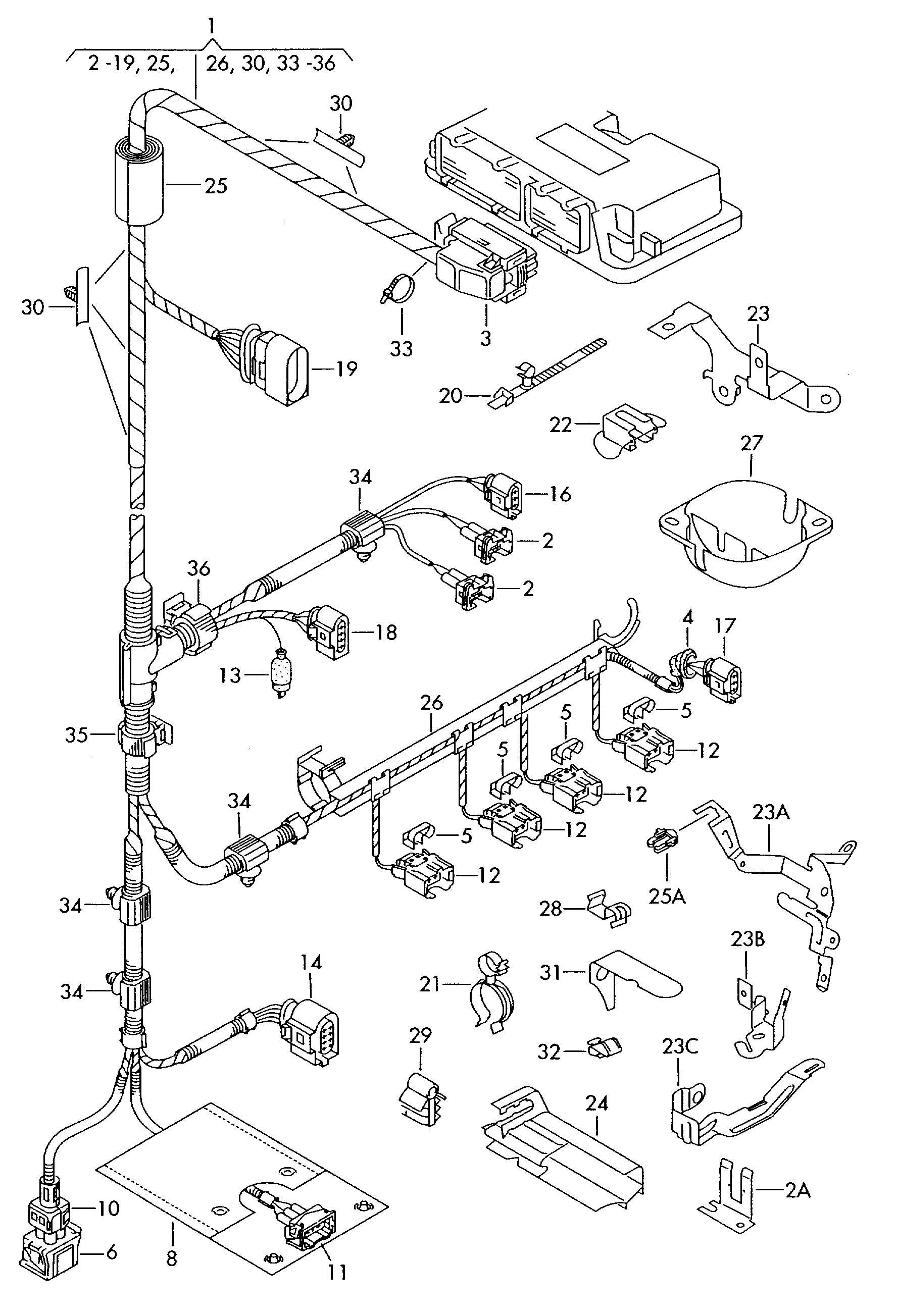 2008 vw rabbit wiring harness