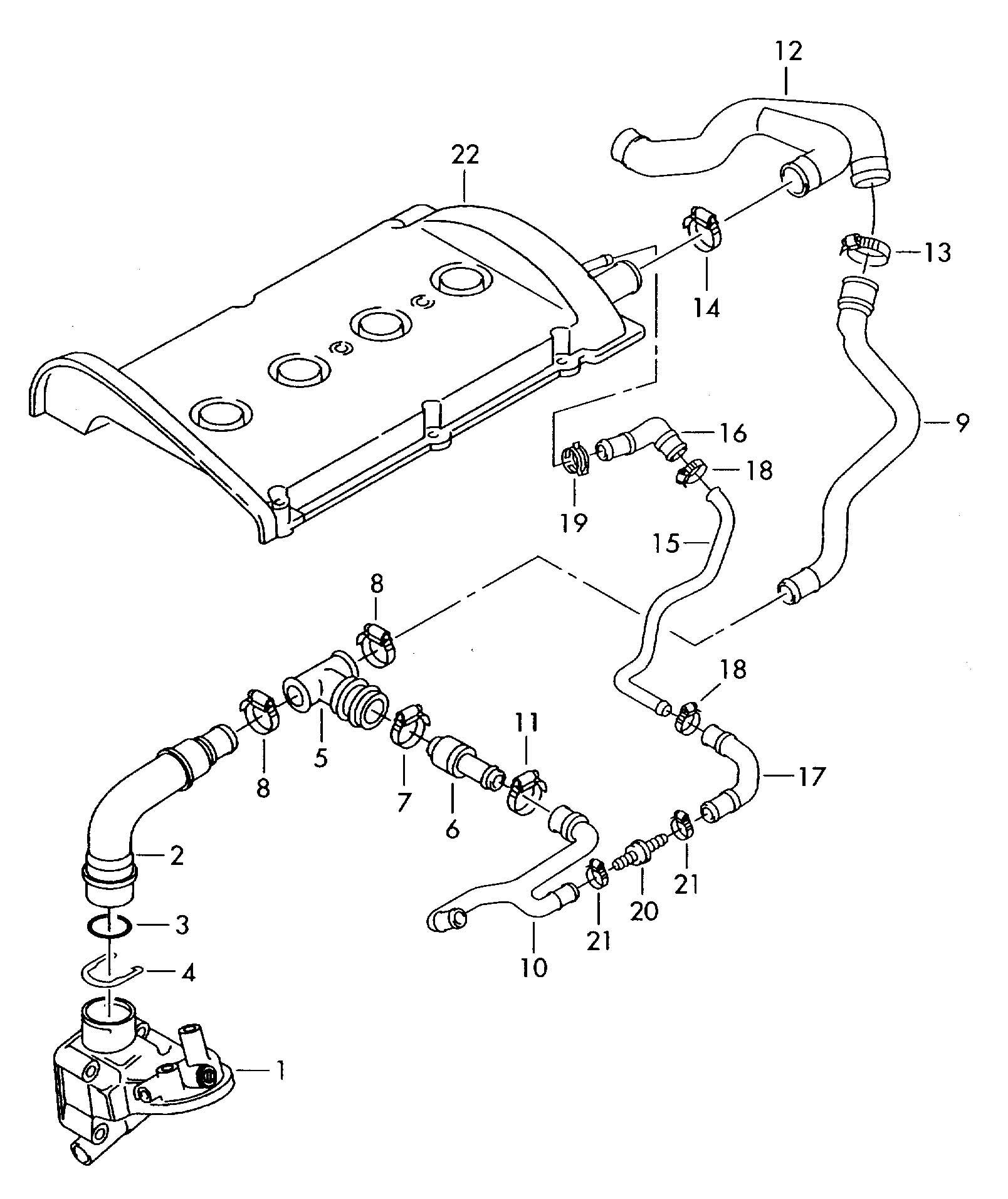 audi tt 1 8t Motor diagram