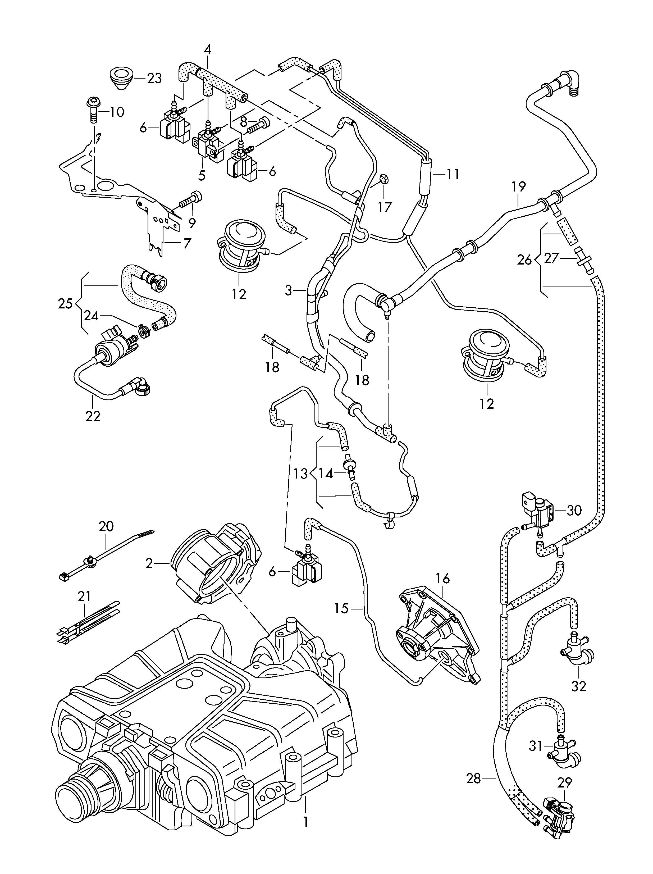 2010 volkswagen routan engine diagram