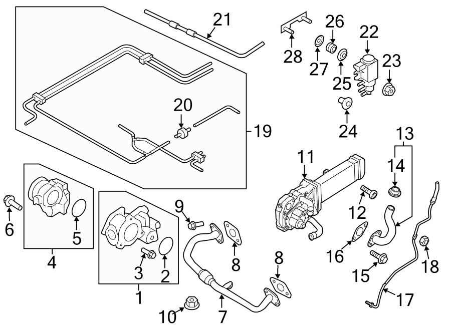 vw jetta exhaust system diagram