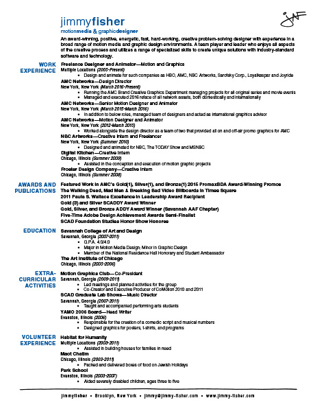 pin sle resume awards and honors on