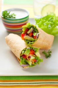 Grilled marinated Veggie wraps shutterstock_78646207