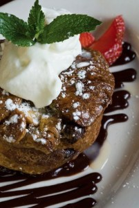 chocoate-bread-pudding-with-caramel-shutterstock_55522504