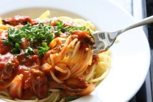 Parmesan Spaghetti shutterstock_1801799