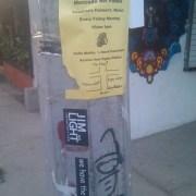 JimOnLight.com stickers in Sayulita, Mexico