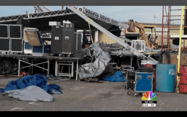 from WCNC Charlotte - Shelby stage collapse photos