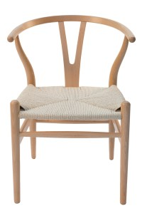 Wishbone Dining Chair - Natural Timber and Rattan - Jim's ...