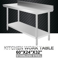Commercial Stainless Steel Food Work Prep Table 60 x 24 ...