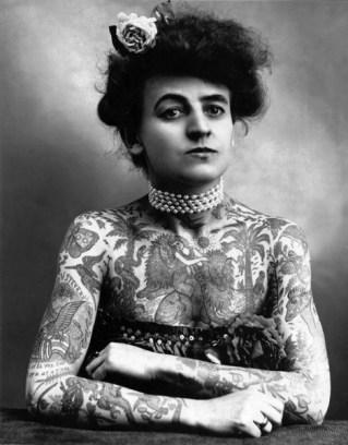 Maud Stevens Wagner, Tattoo Artist, USA 1877-1961