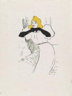 Henri de Toulouse-Lautrec (1864 -1901) Yvette Guilbert singt Linger, longer, loo, um 1894 Farbige Hochätzung, 38,5 x 29 cm Hamburger Kunsthalle, Kupferstichkabinett © Hamburger Kunsthalle/bpk Photo: Christoph Irrgang