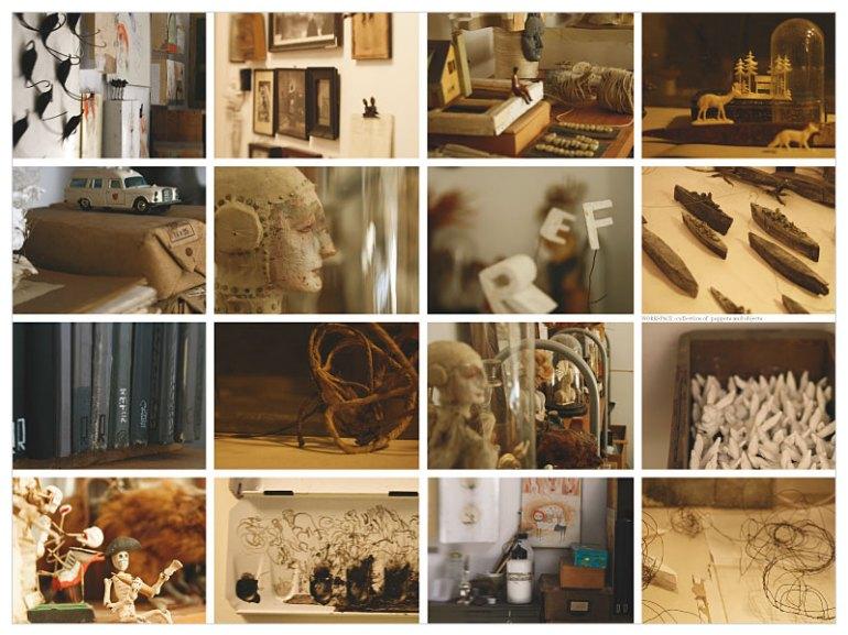 Lars Henkel, Arbeitsplatz, Figuren und Objekte