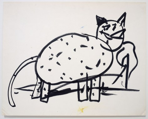 Matt Mullican Drawing Under Hypnosis (Child), 1978, marker on paper, 55.9 x 71.1 cm (22 x 28 in.), Courtesy of the artist, Mai 36 Gallery, Zurich and Galerie Micheline Szwajcer, Brussels