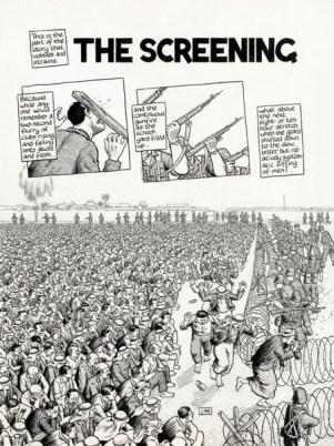 © Joe Sacco «Footnotes in Gaza», Tusche auf Papier, 2009