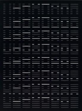 Wolfram Erber, Zweiteilige Arbeit zum I Ging (II), 1973, Schabkartonzeichnung, Bildmaß 29 x 21,5 cm.