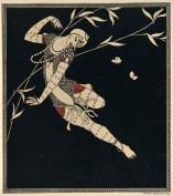 George Barbier, Pochoir-Druck. In: George Barbier: Designs on the dances of Valav Nijinsky, London: Beaumont 1913, Universität Salzburg, Derra de Moroda Dance Archives