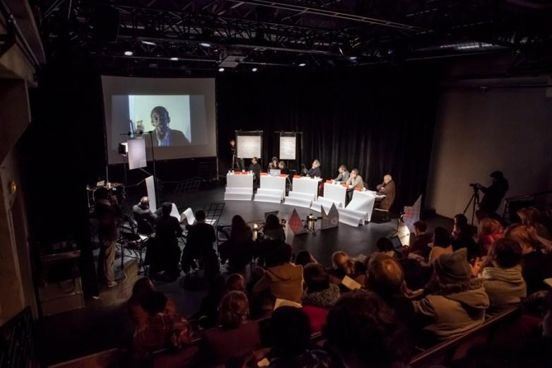 Le peuple qui manque, Beyond the Magiciens Effect, symposium-performance, 2015, Fondation Gulbenkian © Helena Hattmansdorffer