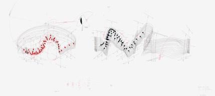 Jorinde Voigt, Symphonic Area Var. 13, 2009, Tinte, Bleistift auf Papier © (Jorinde Voigt) VG Bild-Kunst Bonn, 2017