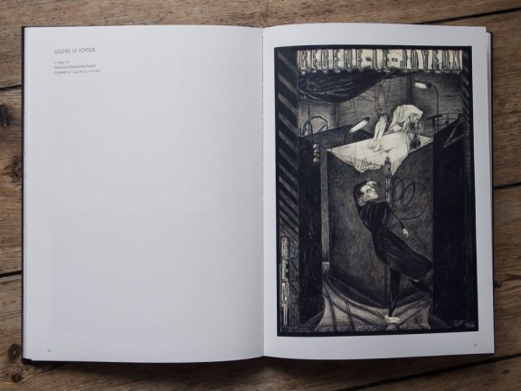 Abb. 04: Doppelseite 80–81: Gégène-le-joyeux, ca. 1974–1977, Bleistift auf Illustrationskarton, gerahmt 33 x 24 cm.