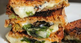 Spinach & Pesto Grilled Cheese