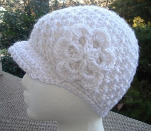 Free Crochet Newsboy Hat