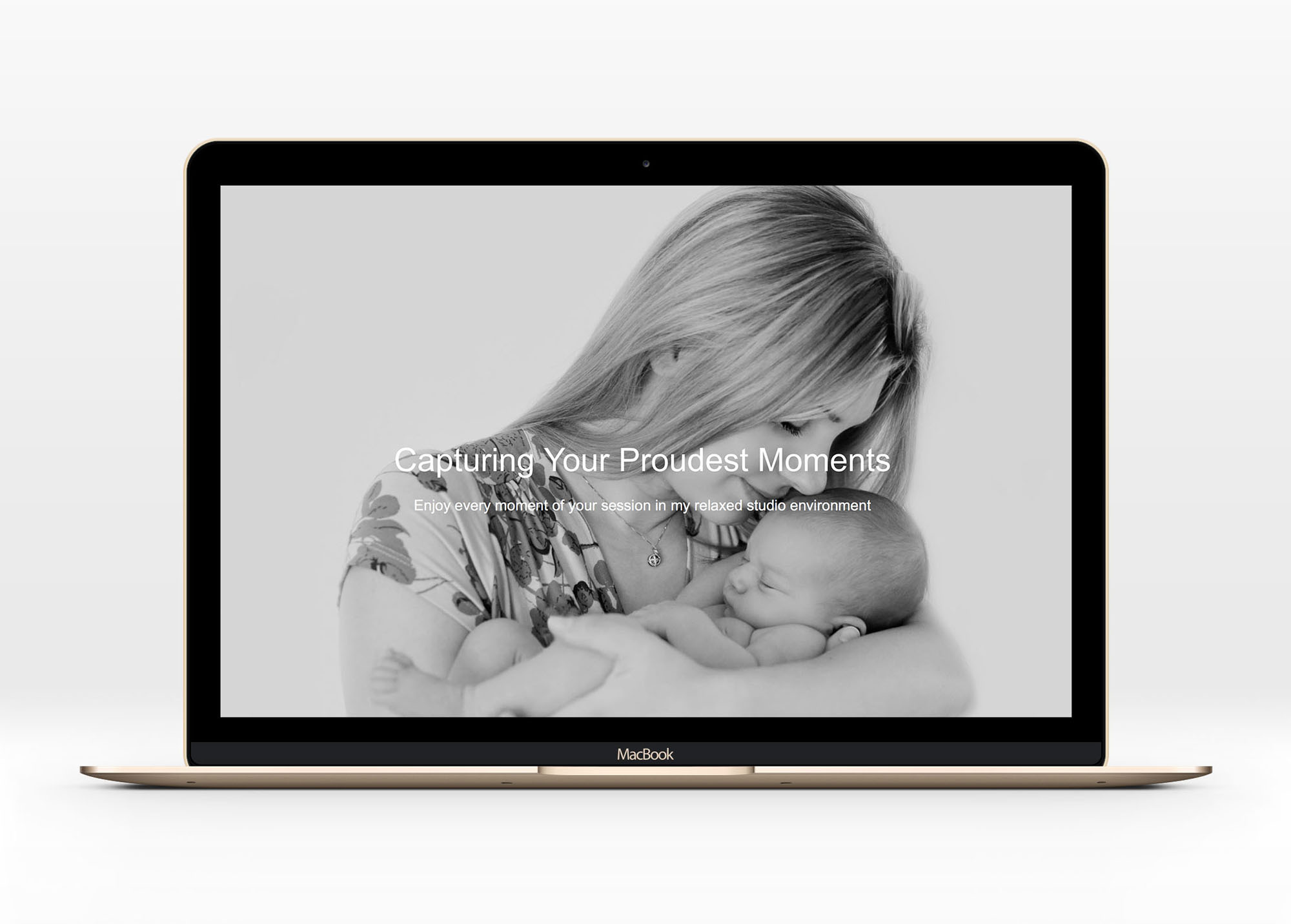 Web Design for Expecting Photography - Newborn, Portrait Photography