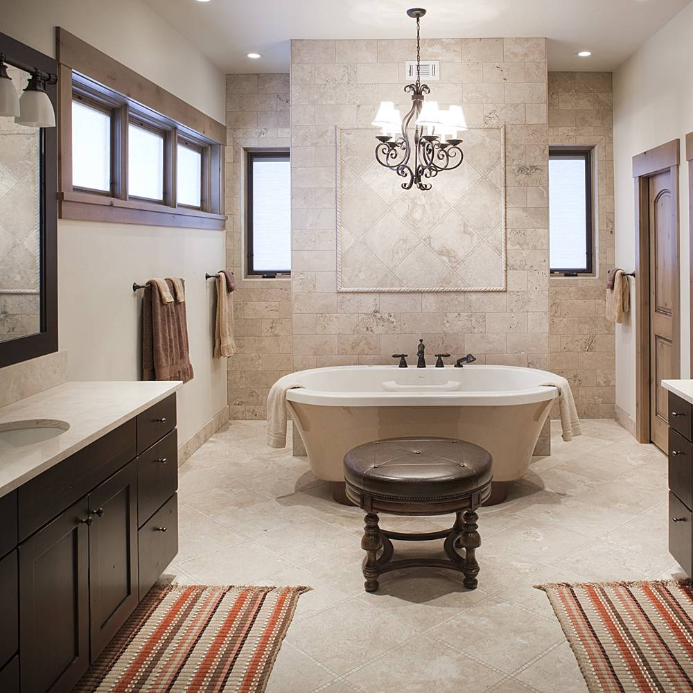 kitchen bath products kitchen sinks denver Full custom bathroom with claw foot tub custom lighting and his and hers sinks