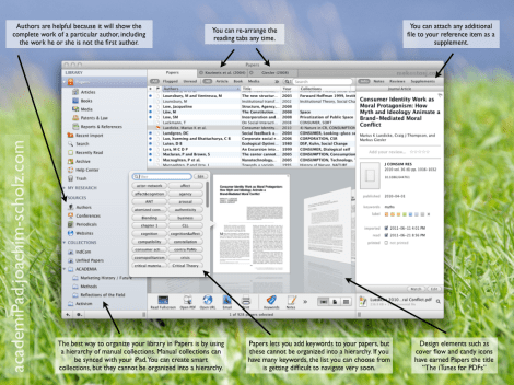 """Its beautiful and simple design has earned Papers the title of being the """"iTunes for PDFs"""""""