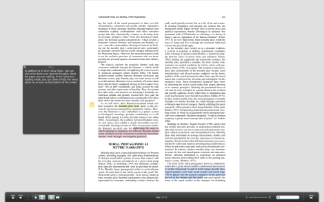 Fullscreen Reading Mode on Papers.