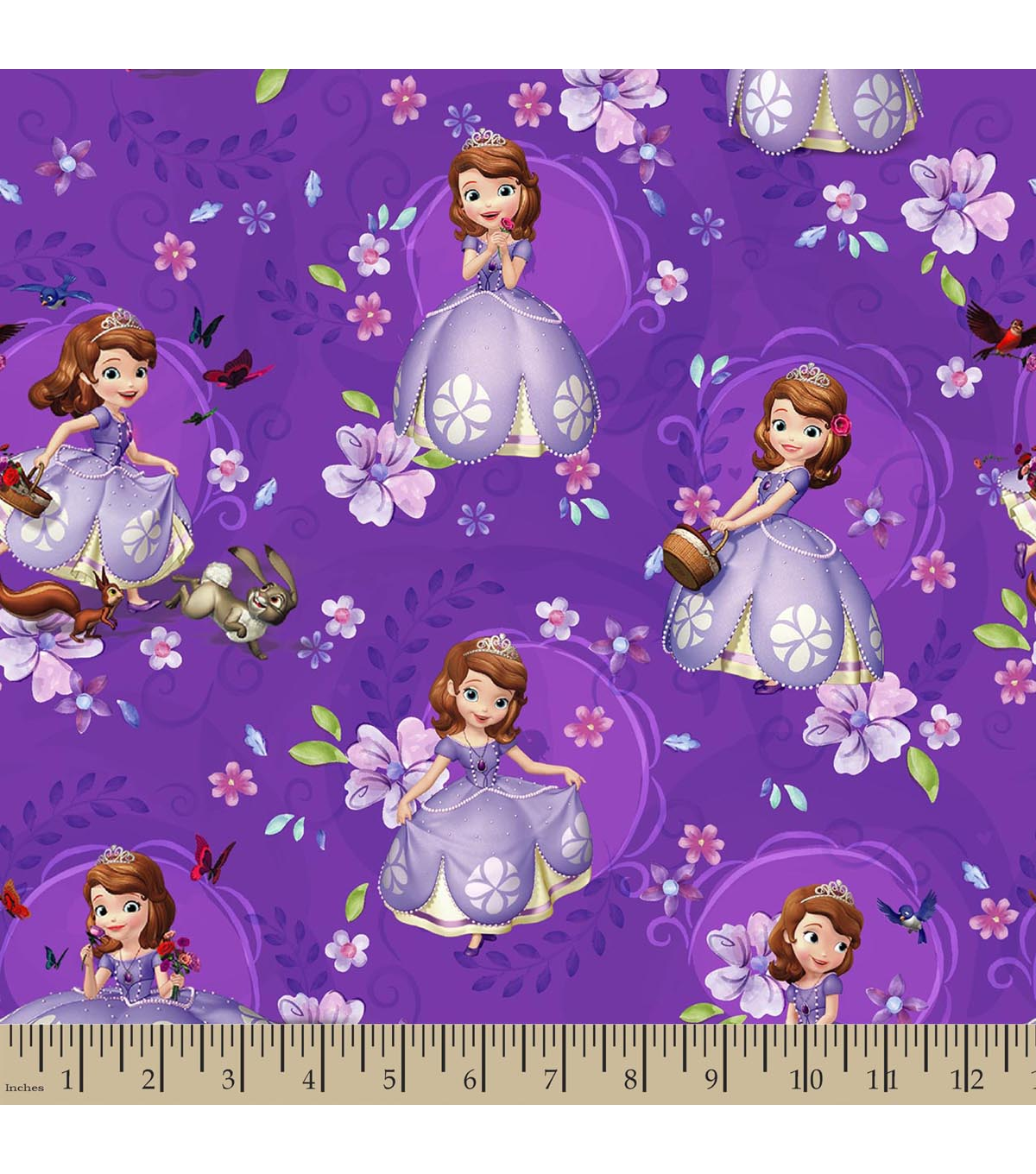 Fall Wallpaper 16 9 Disney Junior Sofia The First Print Fabric Joann