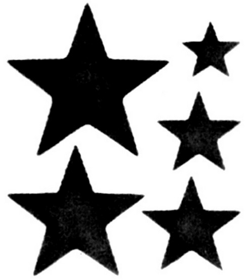 Simply Stencils 8\ - star template