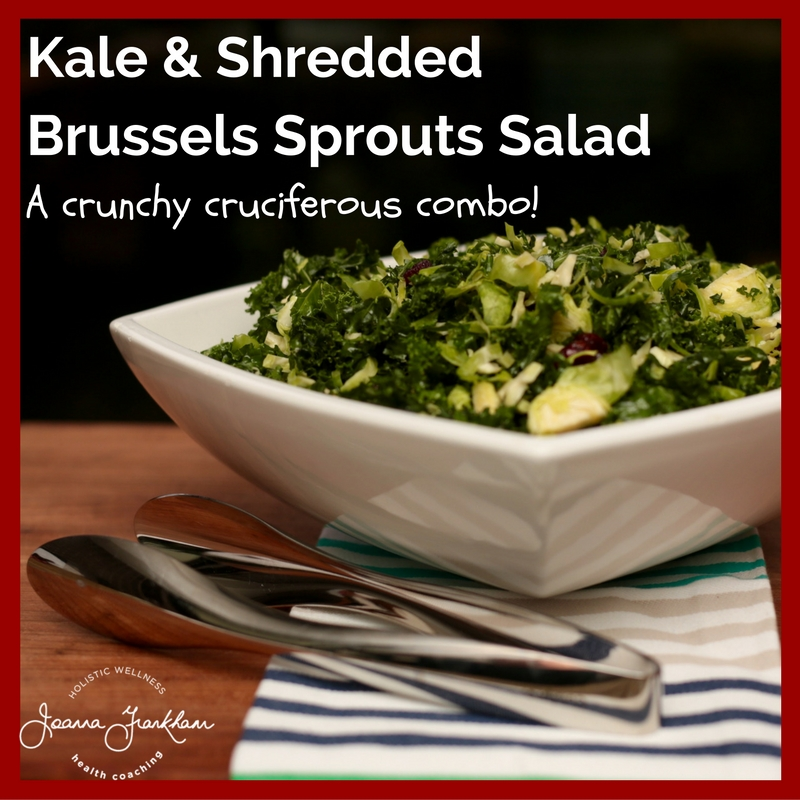 Shredded kale and brussels salad