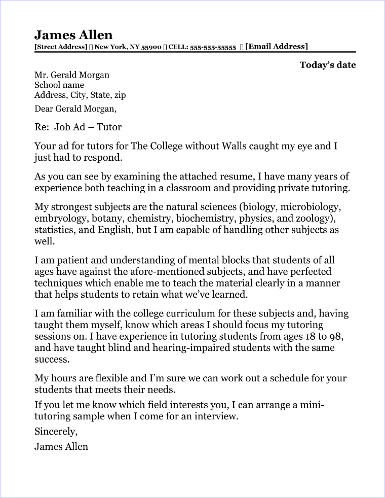 School Counselor Cover Letter Sample - school counselor cover letter samples