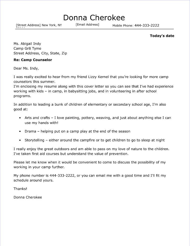Music teacher Cover letter job application