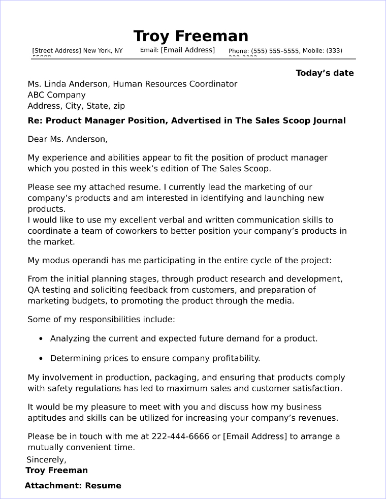 40+ Free Cover Letters for Sales and Marketing Jobs